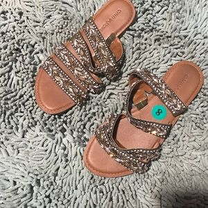 Cynthia Rowley Shoes - Green Bejeweled sandals